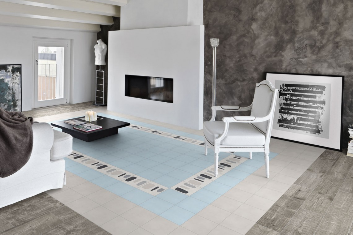 Carreaux de ciment décor contemporain
